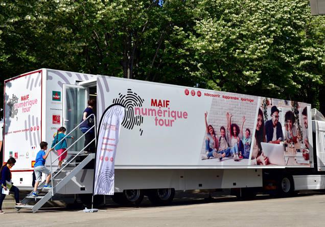 Camion MAIF tour numérique