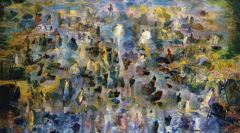 Méditerranéens, 1992, huile sur toile Musée de l'IMA, donation Claude & France Lemand
